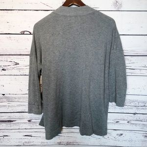 Zara Sweaters - Zara knit gray 3/4 sleeve cardigan